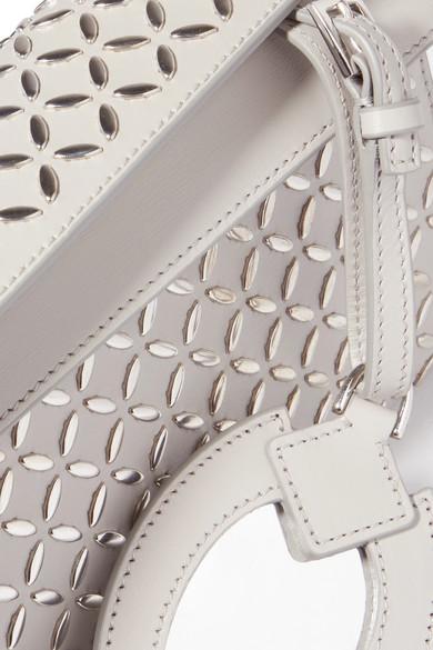 Alaïa Verzierte Clutch aus Leder