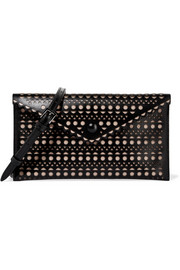 Vienne laser-cut leather shoulder bag