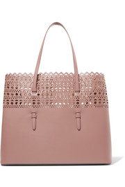 Vienne medium laser-cut leather tote