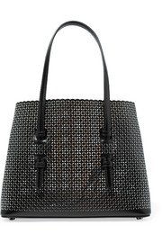 Small laser-cut leather tote