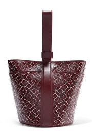 Alaïa Arabesque studded leather wristlet bag