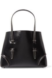 Small studded leather tote