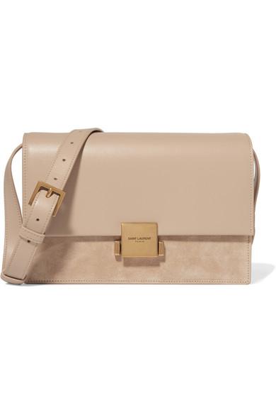 9ed41a262 SAINT LAURENT | Bellechasse medium leather and suede shoulder bag ...