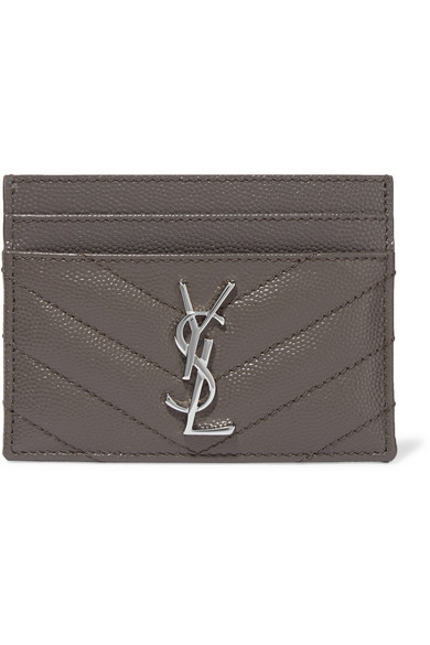 Saint Laurent Quilted Textured-Leather Cardholder  8362c710ea