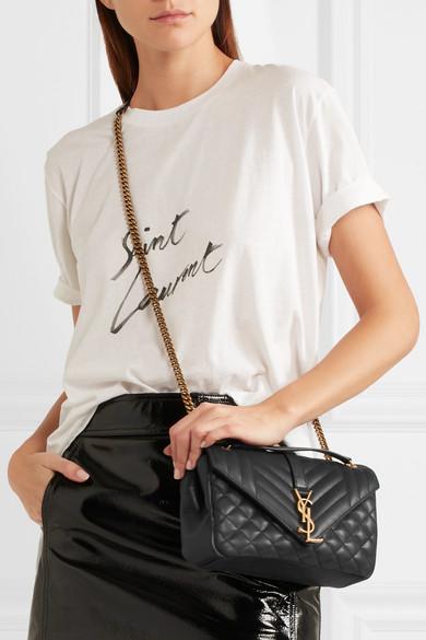 1ad7eb9756c43 Saint Laurent. Soft Envelope quilted leather shoulder bag.  1