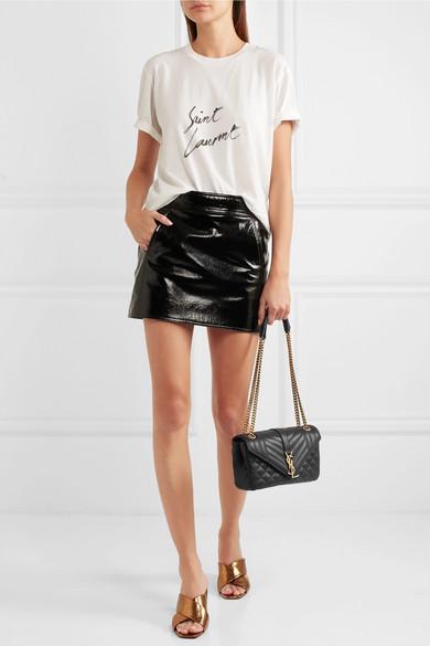 0a001ab194dca Saint Laurent. Soft Envelope quilted leather shoulder bag