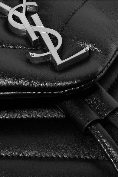 Saint Laurent. Loulou quilted leather backpack.  1 4e0b14e6bd27c