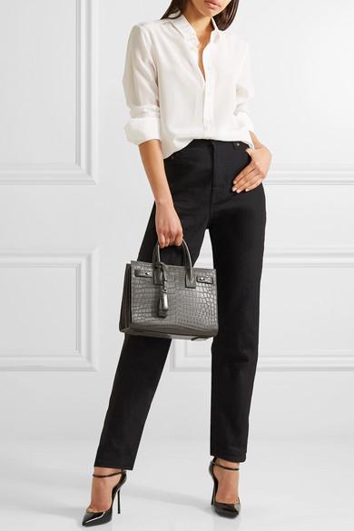aaf379dd775 SAINT LAURENT | Sac De Jour Baby croc-effect leather tote | NET-A ...
