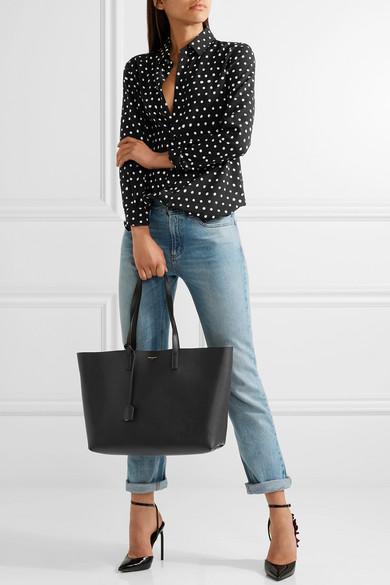 dc65c0e32d Saint Laurent. Shopper large textured-leather tote
