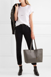 Shopper large textured-leather tote