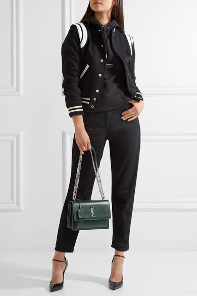 d3264986919ef Saint Laurent Sunset Medium Leather Shoulder Bag
