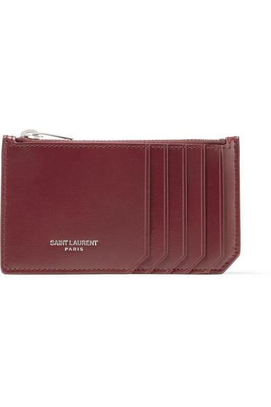 Saint Laurent - Leather Cardholder - Claret