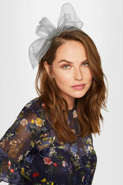 Angie tulle-trimmed grosgrain headband