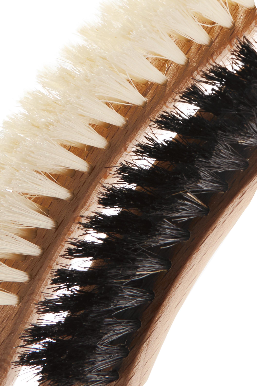 Maison Michel Set of two beechwood hat brushes