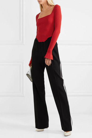 41497473e3 Esteban Cortazar. Kira asymmetric stretch-knit top