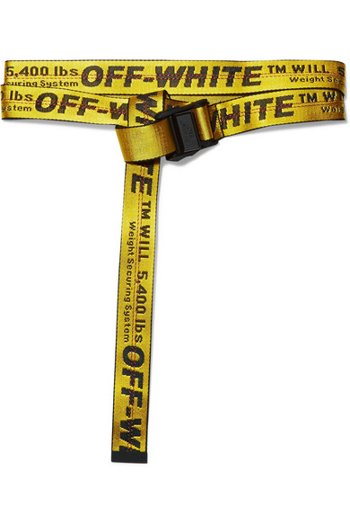 Off-White - Industrial Embroidered Canvas Belt - Yellow