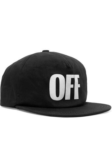 Off-White - Appliquéd Cotton-twill Baseball Cap - Black