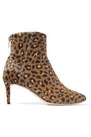 Duke leopard-print calf hair ankle boots