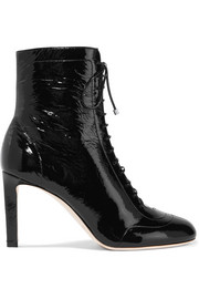 Daize lace-up patent-leather boots