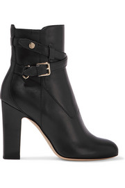 Jimmy Choo Mitchel buckled leather ankle boots