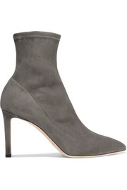 Jimmy Choo Louella stretch-suede sock boots