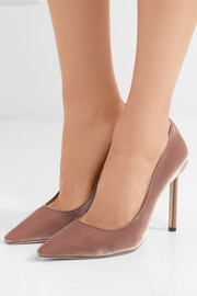 Jimmy Choo Romy 100 velvet pumps