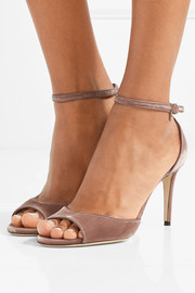 Jimmy Choo Annie 85 velvet sandals