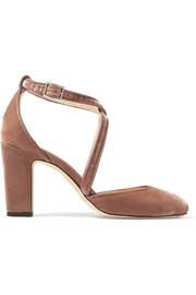 Jimmy Choo Escarpins en velours Cleo