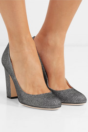 Jimmy Choo Billie 100 textured-lamé pumps