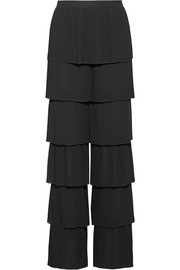 Lyeta pleated georgette wide-leg pants