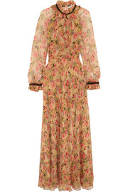 Ennafa floral-print silk-chiffon maxi dress