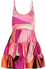 Emilio Pucci Libellula ruffled printed silk-organza mini dress