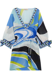 Emilio Pucci Libellula printed cotton and silk-blend kaftan