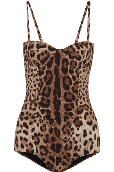 Dolce & Gabbana - Leopard-print Swimsuit - Leopard print