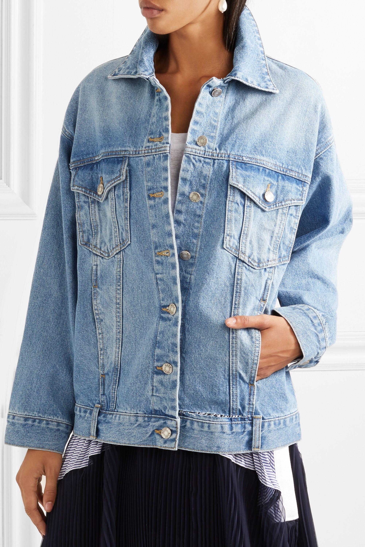 SJYP Oversized distressed denim jacket