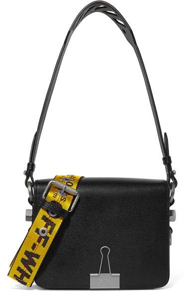 Off-white Embellished Patent-leather Shoulder Bag - Black VVHgT4TV