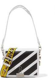 Off-White Printed leather shoulder bag