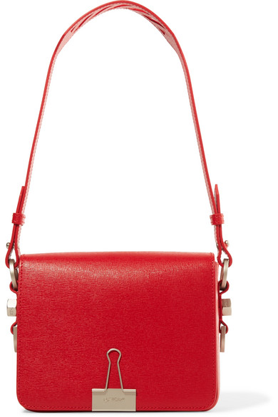 Off-White | Textured-leather shoulder bag | NET-A-PORTER.COM