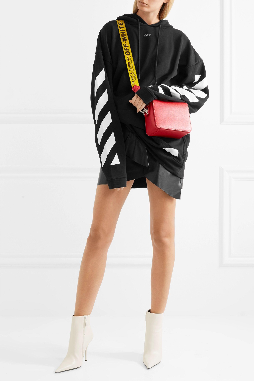 Off-White Textured-leather shoulder bag