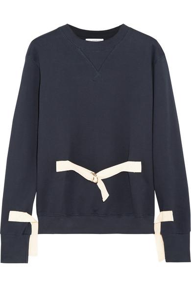 J.W.Anderson - Canvas-trimmed Cotton-jersey Sweatshirt - Navy