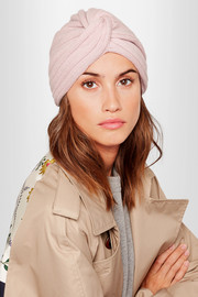 Miu Miu Knotted wool and cashmere-blend turban