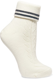 Striped stretch-wool socks