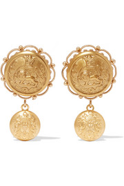 Dolce & Gabbana Gold-tone clip earrings