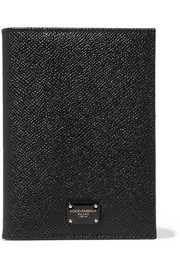 Dolce & Gabbana Textured-leather passport cover
