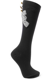 Dolce & Gabbana Embellished wool-blend socks