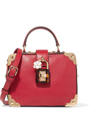 Dolce & Gabbana Dolce Box embellished textured-leather tote
