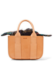 Gilbert mini leather and tartan tote