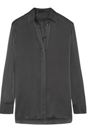 The Row Big Sisea silk-charmeuse shirt