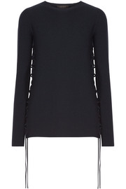 The Row Edal lace-up wool-blend sweater