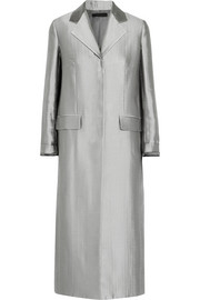 The Row Muedi wool-blend satin coat